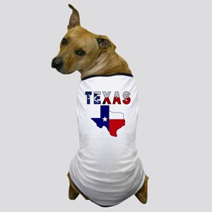 Flag Map With Texas Dog T-Shirt