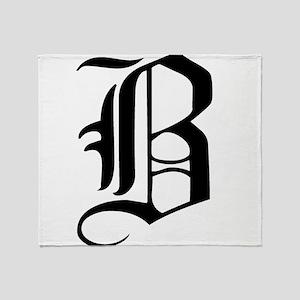 Gothic Initial B Throw Blanket