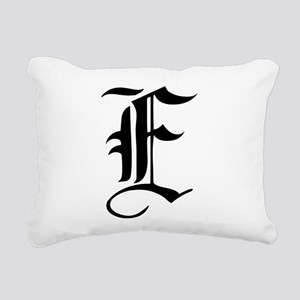 Gothic Initial E Rectangular Canvas Pillow