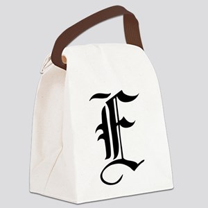 Gothic Initial E Canvas Lunch Bag