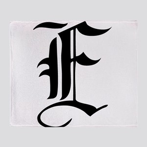Gothic Initial E Throw Blanket
