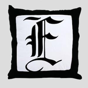 Gothic Initial E Throw Pillow
