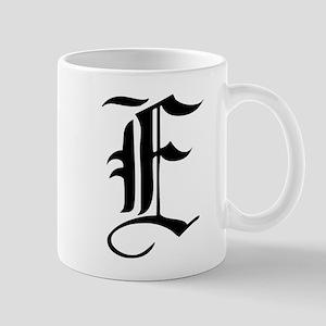 Gothic Initial E Mug