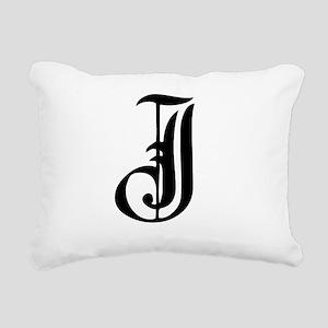 Gothic Initial J Rectangular Canvas Pillow