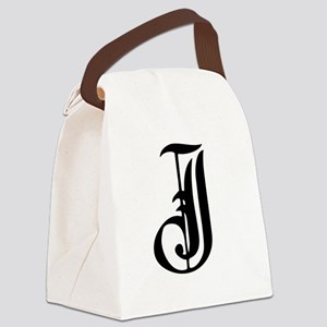 Gothic Initial J Canvas Lunch Bag