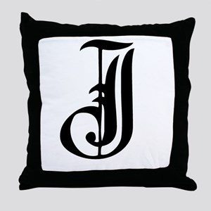 Gothic Initial J Throw Pillow