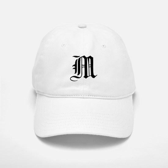 Gothic Initial M Baseball Baseball Cap