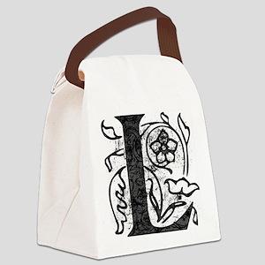 Fancy Monogram L Canvas Lunch Bag