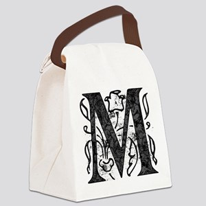 Fancy Monogram M Canvas Lunch Bag