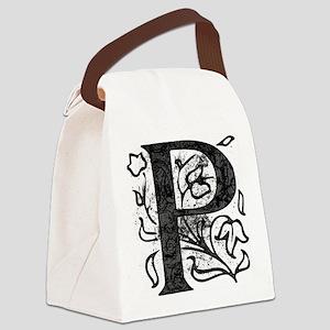 Fancy Monogram P Canvas Lunch Bag
