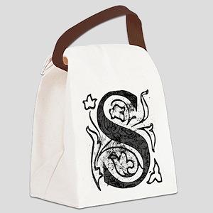 Fancy Monogram S Canvas Lunch Bag