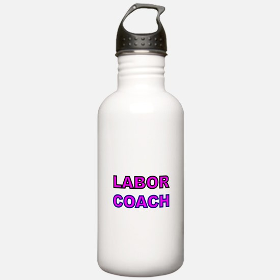 Labor Coach-pink Water Bottle