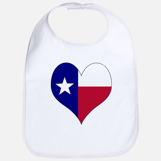 I Love Texas Flag Heart Bib