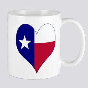 I Love Texas Flag Heart Mug