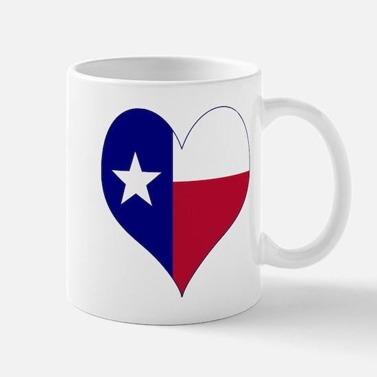 I Love Texas Flag Heart Mug