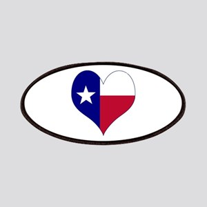 I Love Texas Flag Heart Patches