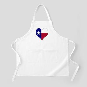 I Love Texas Flag Heart Apron