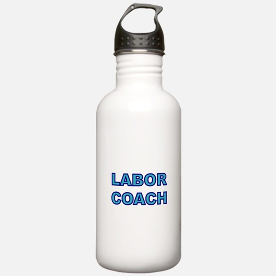 Labor Coach-blue Water Bottle