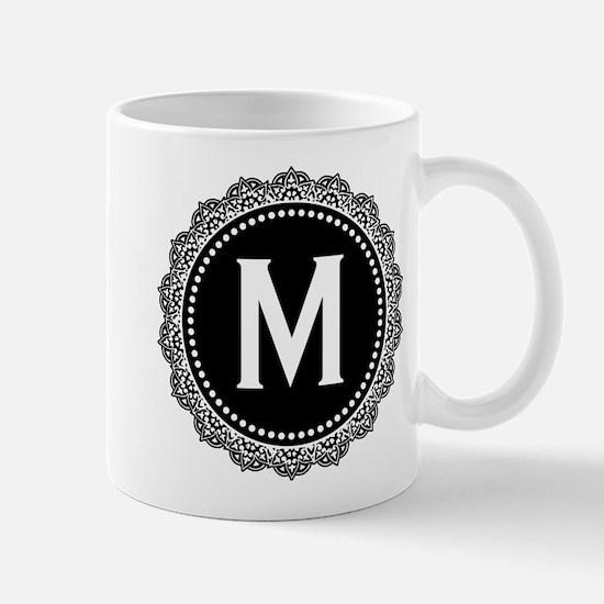 Monogram Medallion M Mug