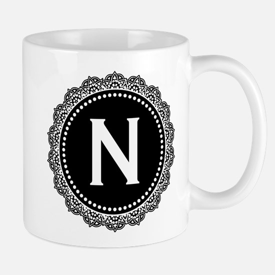 Monogram Medallion N Mug