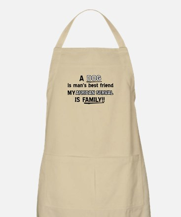 African serval Cat Designs Apron
