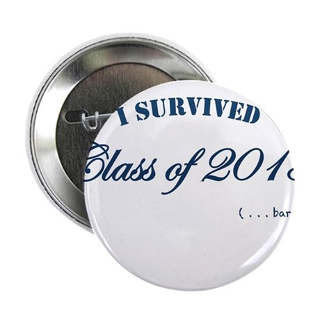"I survived the Class of 2013 2.25"" Button"