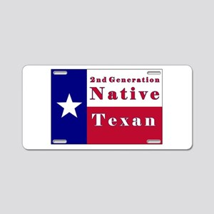 2nd Generation Native Texan Flag Aluminum License
