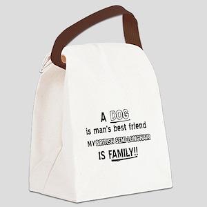 British Semi-Longhair Cat Designs Canvas Lunch Bag