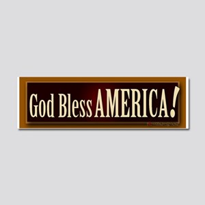 God Bless America! Car Magnet 10 x 3