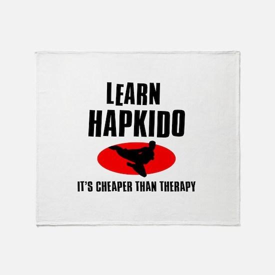 Hapkido silhouette designs Throw Blanket