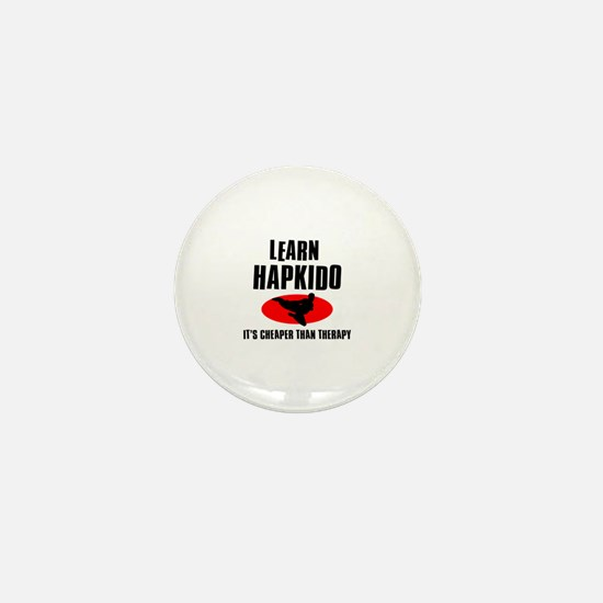 Hapkido silhouette designs Mini Button