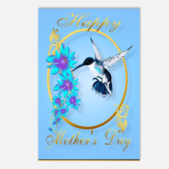 Mothers Day with humming birds Postcards (Package