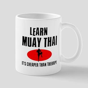 Muay Thai silhouette designs Mug