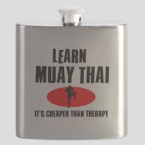 Muay Thai silhouette designs Flask