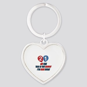 Gifts for the individual turning 21 Heart Keychain