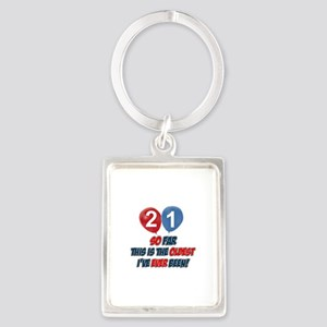 Gifts for the individual turning 21 Portrait Keych