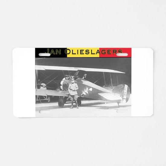 Jan Olieslagers Aluminum License Plate