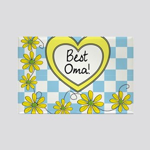 Best Oma Yellow Rectangle Magnet