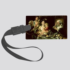 Pipe, 1638 @oil on canvasA - Large Luggage Tag