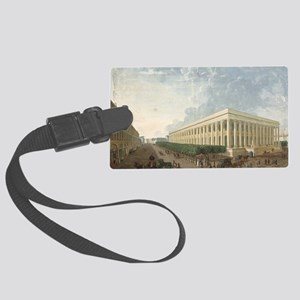 he on paperA - Large Luggage Tag