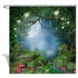 Enchanted summer night Shower Curtains