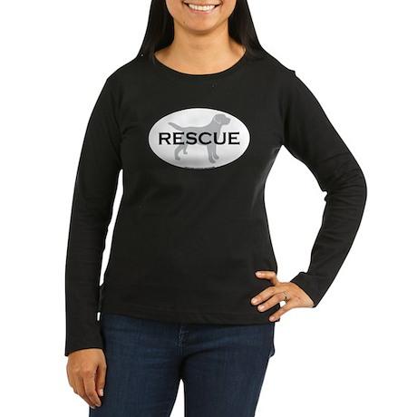 RESCUE Women's Long Sleeve Dark T-Shirt