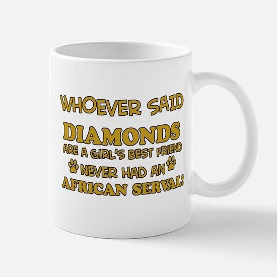 African Serval cat vector designs Mug