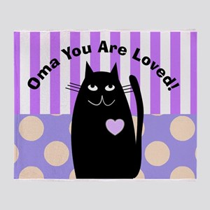 Oma you are loved 1 Throw Blanket