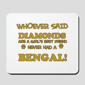 Bengal cat vector designs Mousepad