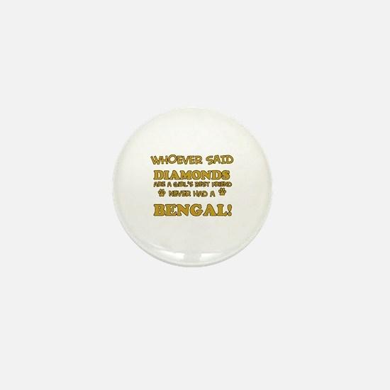 Bengal cat vector designs Mini Button