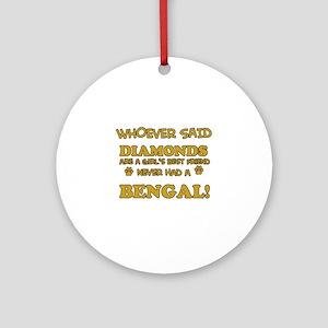Bengal cat vector designs Ornament (Round)