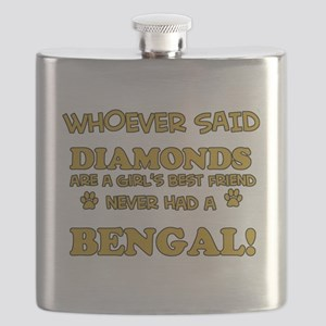 Bengal cat vector designs Flask