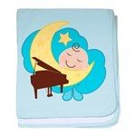 Baby Boy With Piano baby blanket