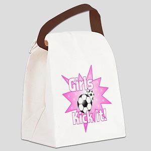 Girls Kick It Canvas Lunch Bag